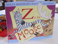 """Reeading the book """"Z is for Moose"""" in #preschool by Teach Preschool"""