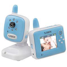 Turbo-X Baby Monitor Kit Blue. Με αμφίδρομη επικοινωνία για να ηρεμείς το μωρό σου εξ'αποστάσεως, νυχτερινή λήψη αλλά και ειδοποίηση σίτισης.