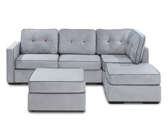 The Big (Game) Sale! Save on this 5 Series Chaise Sectional & Ottoman with Alloy Tufted Velvish Covers | #Lovesac #sactionals #sale #sofa #couch #football #gameday