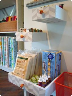 throwing out dresser drawers? Think again, Neat storage Idea!