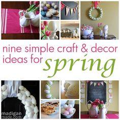 Nine simple spring project ideas