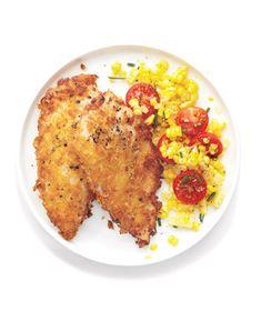 Crispy Chicken With Corn Salad
