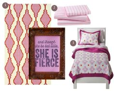 Pink and Orange Girls Bedroom - This post is FULL of girls room decor ideas. #decorating #home #girls #kids #DIY