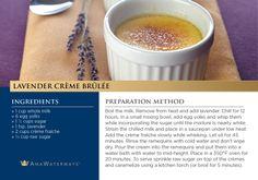 Lavender Creme Brulee Recipe - AmaWaterways