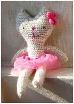 Rose, the ballerina cat. Made by me #crochet #amigurumi