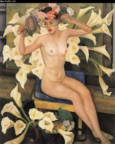 Diego Rivera  Nude and flower