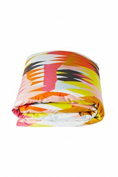 Kip & Co / Croc Orange Quilt Cover - King / Bedding - Superette