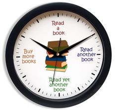Clock for booklovers