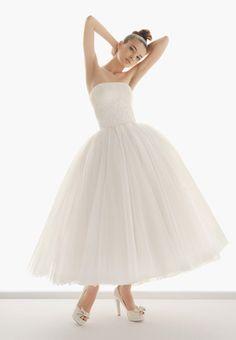 this but floor length would be nice ballet length wedding dress, wedding dressses, idea, ball gowns, dream, weddings, gown strapless, dresses, tea