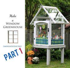 Make A Window Greenhouse from old windows   empressofdirt.net