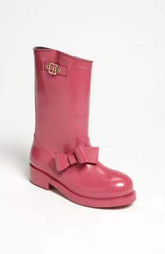 Rain boots with a bow