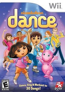 Nickelodeon Dance Wii Nintendo - Dance, Sing and Workout to 30 Songs - 2K Play. The kids love to play this game. It keeps them busy for hours.