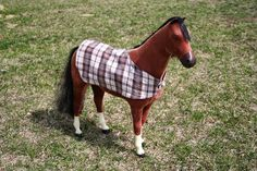 Arts and Crafts for your American Girl Doll: Reversible Horse Blanket for American Girl Doll