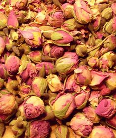 dried, little roses.