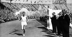 The opening ceremonies of the 1948 Olympic Games in #London #olympics