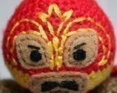 Crochet Pattern- El Ciclon Panzon Luchador/Mexican Wrestler Amigurumi. $5.00, via Etsy.