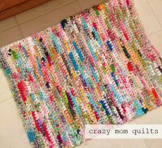 71/101 crocheted rag rug