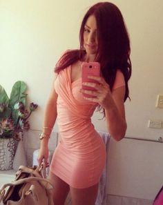 Hot girl in tight dress