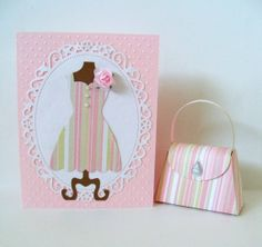 Dress Form Card with matching purse by SuperCraftyLady on Etsy, $8.00