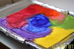 Melted Crayon Drawing On A Griddle