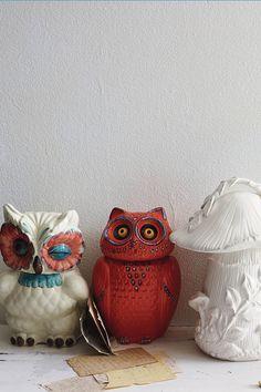 Owl cookie jars!