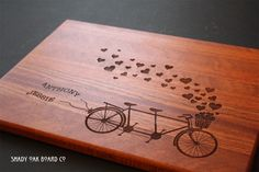 Personalize your very own wood cutting board from Shady Oak Board Co!