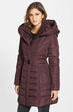 kensie Belted Down & Feather Jacket available at #Nordstrom