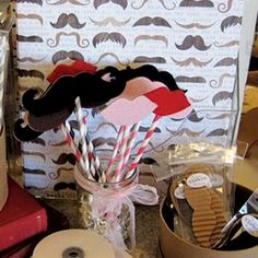 Lips and mustaches on decorative straws make the perfect party favors. These are cut from stiffened felt using an AccuCut die (Smooches and Mustaches). See more at accucutcraft.com