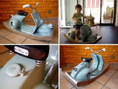Vespa turned into rocking horse! How cool is this?!
