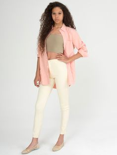 The Easy Jean in Creme by #AmericanApparel, comes in 11 colors!  #pants #denim #easyjean