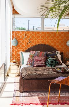 What a colorful, textured space.