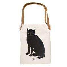 Noir Cat Tote Bag | Little Paper Planes