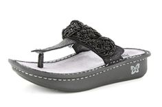 Alegria Carina Black Rope - on closeout for $59! | Alegria Shoe Shop #AlegriaShoes #Sandals #Spring2014 #Summer #Closeouts