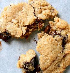 Brown butter coconut dark chocolate chip cookies.