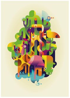 Animal poster by Mads Berg, via Behance
