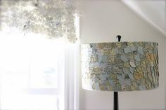 Recycled map lampshades