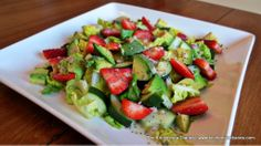 chopped salads, strawberri chop, kitchenista diari, chop salad