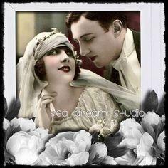 Vintage wedding, bride and groom Etsy shop banner available in my shop. Sea Dream Studio  http://www.etsy.com/listing/67725470/vintage-wedding-bride-and-groom-etsy