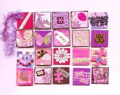pink and purple inchies