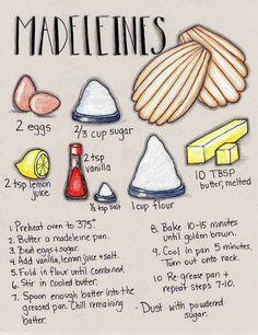 Gonna Stuff a Chicken: Illustrated Recipe: Madeleines