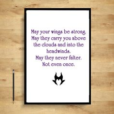 Maleficent Quotes  May your wings never falter by Sumsitupdesigns, $5.00
