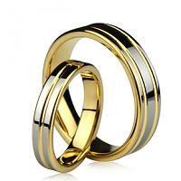19KGP Tungsten Engravable Korean Couple Ring Set - $85.00