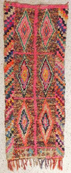 Boucherouite Rug 4#8 - 8 x 3