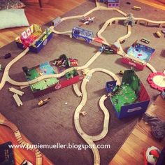 DIY Scenes for wooden train tracks!