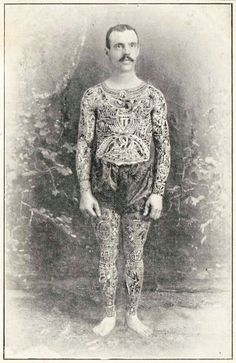 1899,  man with full body tattoo