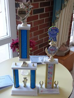 Our box tops traveling trophies awarded to the class who brings in the most box tops.  We have 2 each year, and a back up trophy in case of a tie!