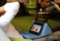 IPEVO Cushi Pillow Stand for iPad - Blue Denim $34l95