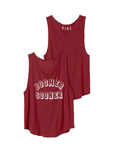 University of Oklahoma Boyfriend Tank - PINK - Victoria's Secret