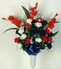 artificial silk grave flowers