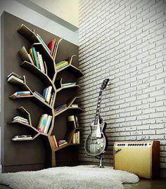 Estante de livros diferente